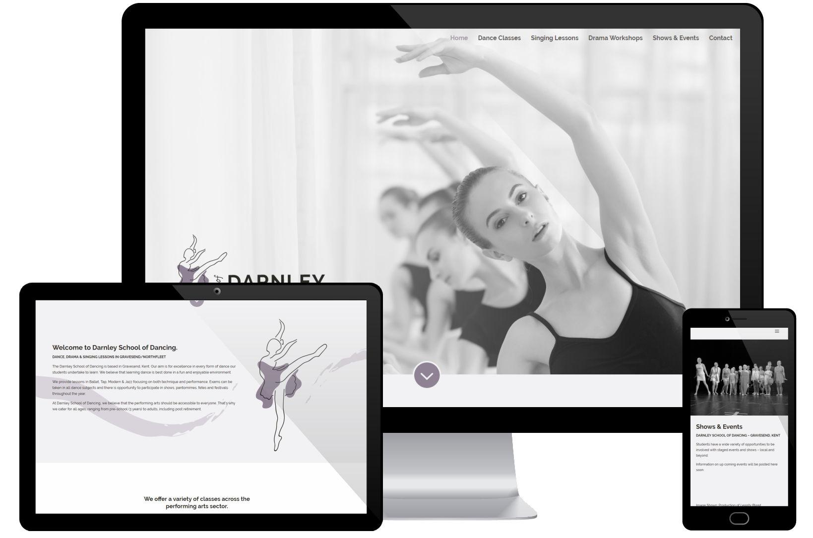 Website Screenshot - Darnley School of Dancing