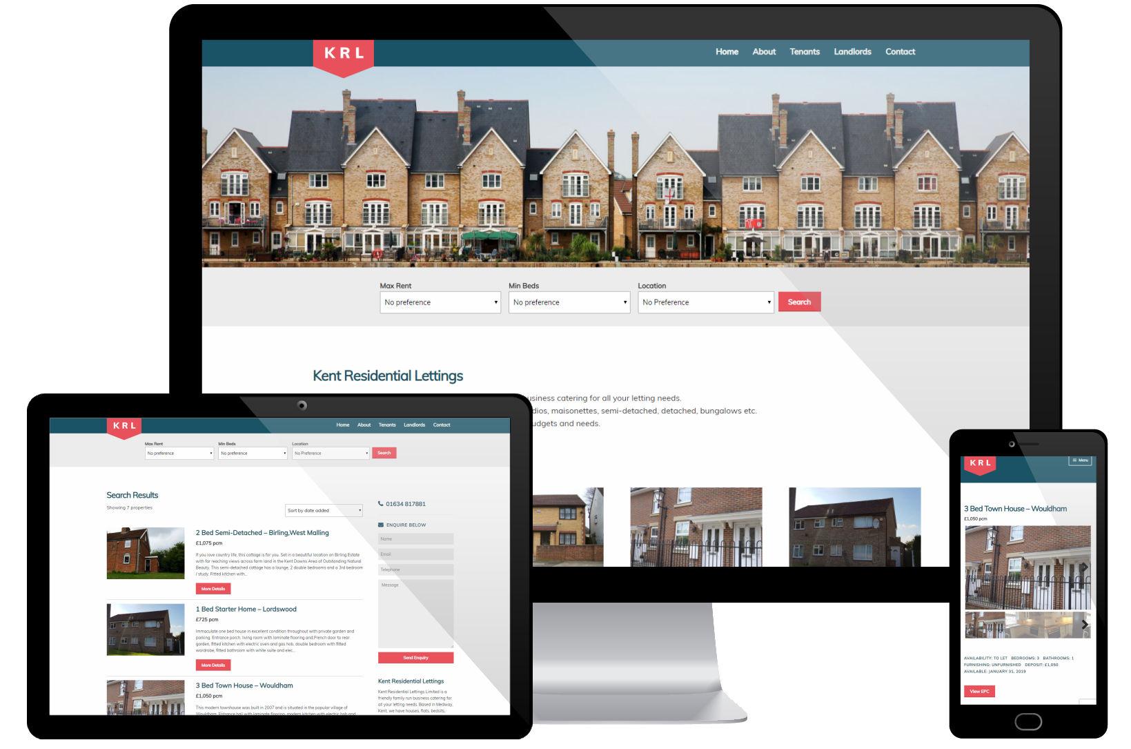 Website Screenshot - Kent Residential Lettings