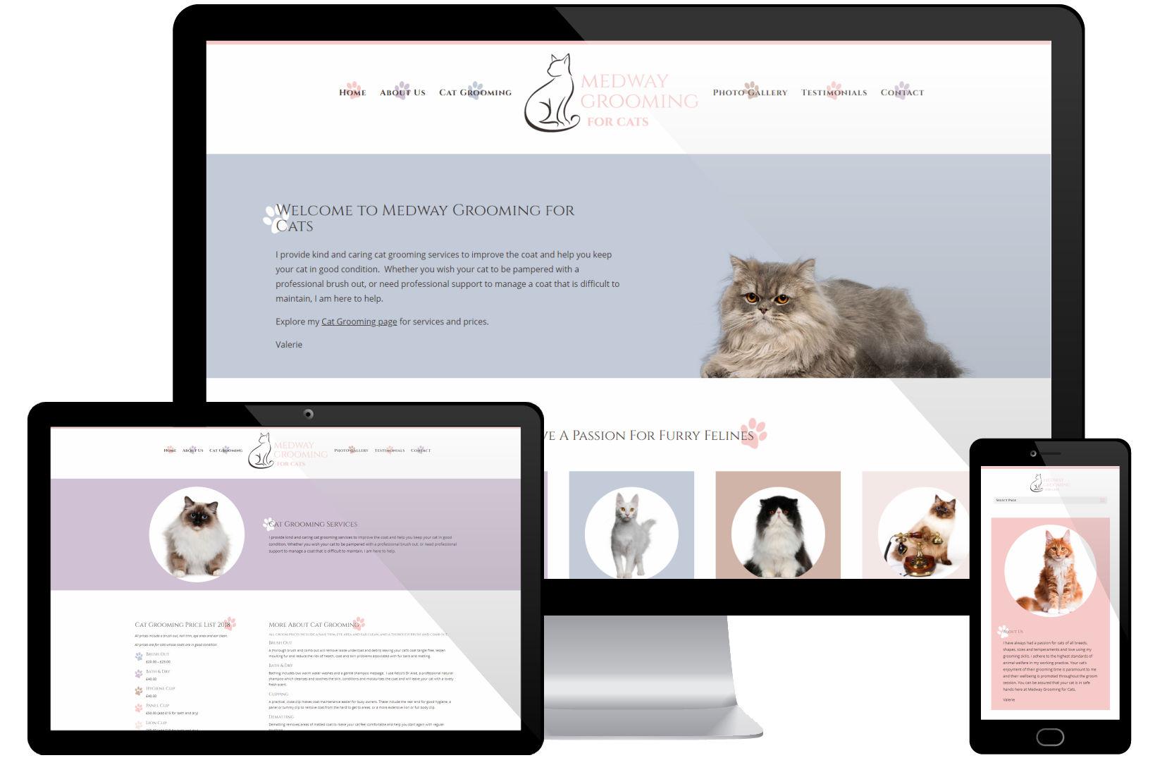 Website Screenshot - Medway Grooming