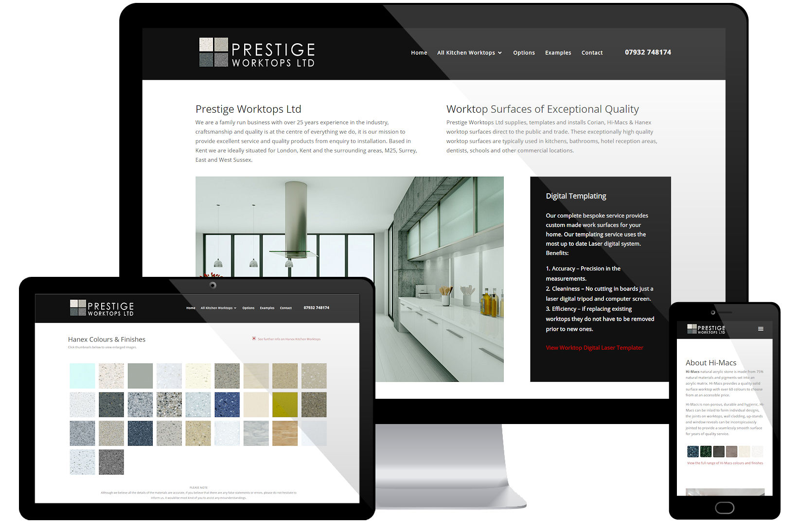 Website Screenshot - Prestige Worktops Ltd