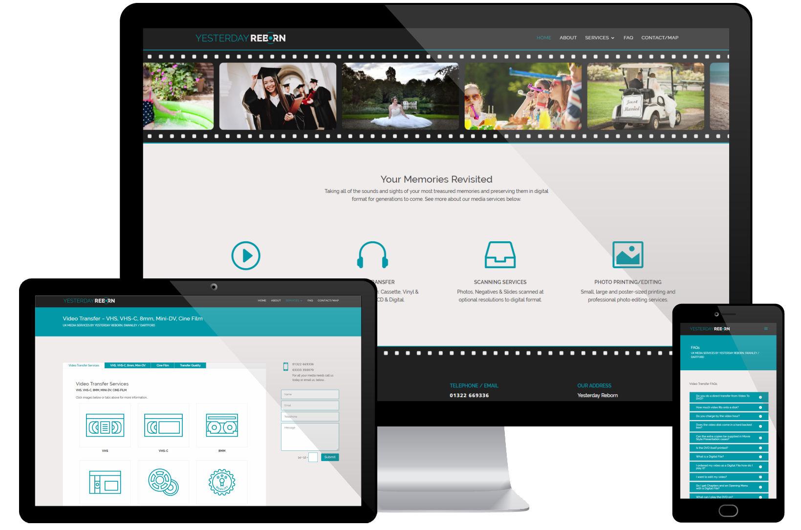 Website Screenshot - Yesterday Reborn